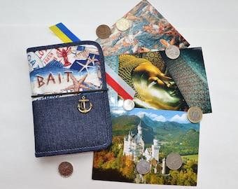 Travel wallet passport wallet passport holder travel gift travel organizer simple wallet passport cover passport case passport pouch denim