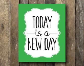New Year Resolution Printable - Today is a New Day