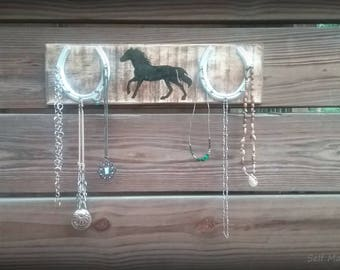 Horse Jewelry and Key Organizer Rack
