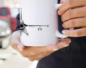 KillerBeeMoto:  U.S. Made F16 Fighting Falcon Aircraft Coffee Mug