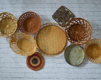 Vintage Basket Collection • Set of 9