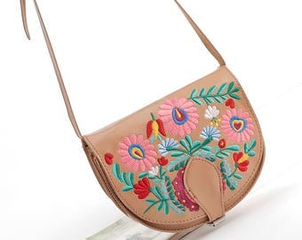Boho Saddle Bag - Gypsy Embroidery Bag - Shoulder Bag ( FREE SHIPPING WORLDWIDE )