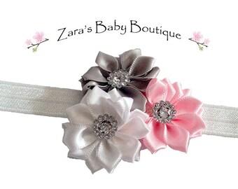 Girls Rainbow Headband * Colorful Headband * Flower Headband * Baby Headband * Red * White * Black * Orange * Blue * Zara's Baby Boutique