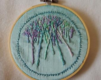 Trees In Winter II - Embroidery Hoop