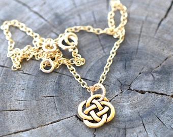 Infant/Toddler Size Open Celtic Knot on 14K Gold filled chain