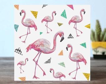 Flamingo Pattern Card