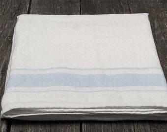 White linen bathroom towel, white linen towel, pure linen towel, rustic linen towel, flax towel, eco friendly towel, flax bathroom towel