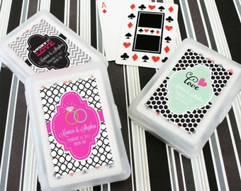 Custom Wedding Playing Cards- Personlaized Wedding Favors-Playing Cards (set of 24)