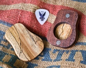 Spalted Maple & Walnut Guitar Pick Holder