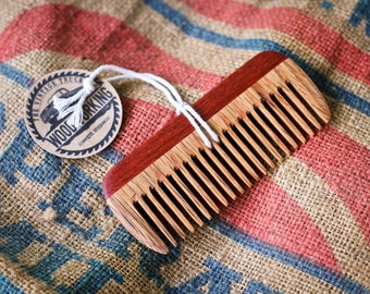 Wooden Comb - Reclaimed Oak & Padauk