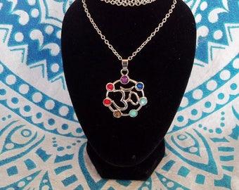 Chakra OM necklace