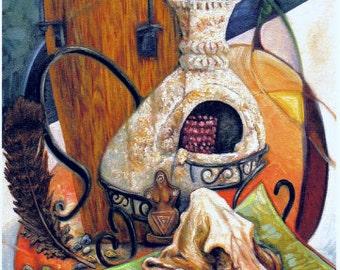 Le Morte DArthur or The Death of King Arthur ACEO Mini Modern Art Card Print by Tree Pruitt