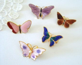 Dainty Butterfly Brooch, Sweet Whimsical Brooch, Feminine Accessory, Nature Inspired, Bridesmaid Brooch