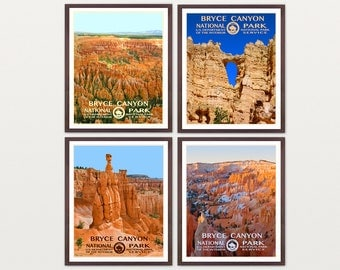 Bryce Canyon National Park Poster - Bryce Canyon Art - Utah - WPA Poster - WPA Art - WPA - National Park Poster - Bryce Canyon Poster -