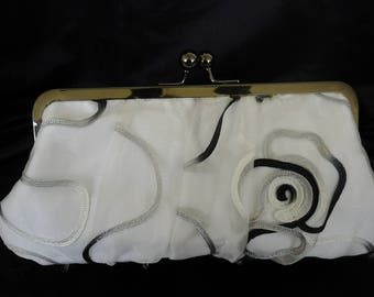 Black  white gold ivory champagne blue  purple lace wedding clutch bridesmaid evening prom clutch purse BBsCustomClutches