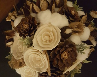 Wedding Bouquet, Bridal Bouquet, Rustic Bouquet, Shabby Chic Bouquet, Rustic Bridal Bouquet