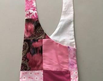 Handmade Pink Patchwork Hobo Shoulder Purse
