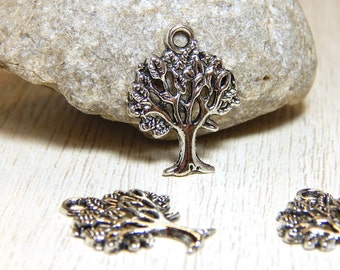 5 Silver Tree of Life Charms, Tree Charms,  Silver Tree Charms, Antique Silver Tree Charms, Charms, Boho Charms,  Nature Charms, SC-5