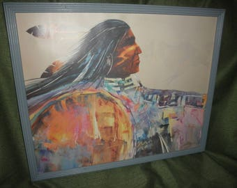 Native American Indian Print by Jim Prindiville
