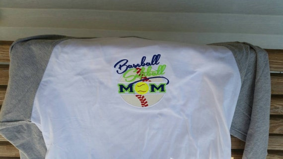 Softball And Baseball Mom Applique Shirt By Fabuellaboutique