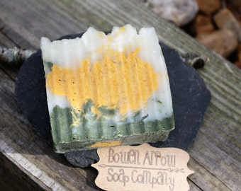 Eucalyptus Peppermint soap, natural soap, Handmade soap, Green Bay Packers soap, Essential Oil scented soap, Bowen Arrow Soap Company