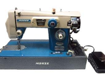 Morse Fotomatic Zig-Zag Vintage Sewing Machine mid-century craft room mod 1950s 1960s decor fashion designer