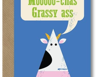 Mooooo-chas Grassy Ass Card