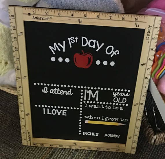 School Chalkboard Sign Reusable, Back To School Chalkboard, Back To School Blackboard, First Day Of School Sign, Kids Chalkboard, Photo Prop