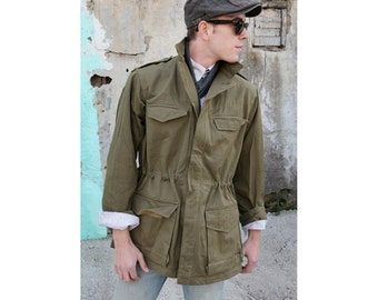 New Unissued French M47 Khaki field jacket combat coat surplus army military 1950s