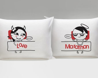 Funny Valentines Day Gift for Him Funny Gift for Her Naughty Gifts for Him Naughty Gag Gift White Elephant Gifts Naughty Couple Pillowcases
