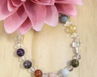 HEART DISEASE Bracelet,Heart gemstone bracelet,Heart healing bracelet,Healing Gemstones,Gemstone jewelry,Healing jewelry