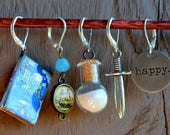 Think Happy Thoughts Crochet Stitch Markers