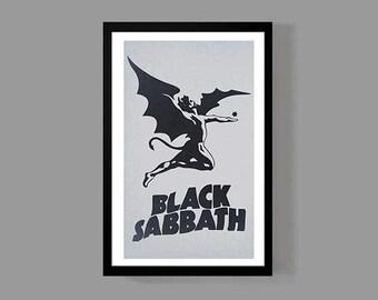 Black Sabbath Custom Poster Print - Ozzy Osbourne - Music, Album, Legendary, Iconic, Classic, Rock, Metal, Heavy