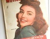 Vintage Motion Picture Magazine 1944 WWII Movies Ephemera Mixed Media Craft