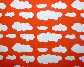 Fabric - jersey fabric - Orange cloud print knit