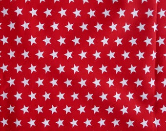 Fabric - Jersey fabric - Red small star print knit - Cotton/elastane
