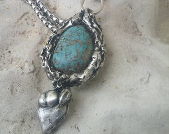 Turquoise Necklace~Statement Jewelry~Navajo Accessories~Native American Accessories
