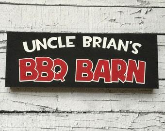 Custom BBQ Barn Wood Sign