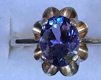 Tanzanite Ring in Silver  size 7