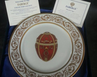 Faberge 'Imperial Egg' Charger Platter