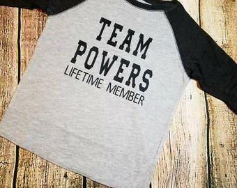 Adoption shirt. Team new last name, raglan adoption shirt. Name change shirt