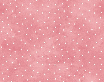 Scattered Dots - Pink by Maywood Studio (8119-P) Cotton Fabric Yardage