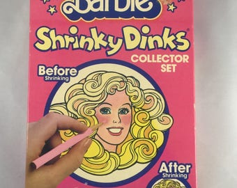 Vintage Barbie Shrinky Dinks New in Sealed Package