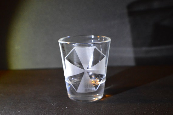 Umbrella resident evil shot glass