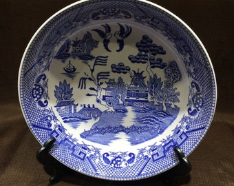 """Blue Willow Serving Bowl - No Markings - approximately 10"""" diameter"""