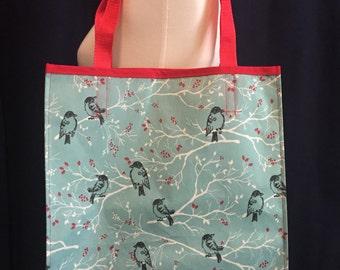 Reusable Shopping Bag / Grocery Bag / Shopping Bag / Reusable Tote / Bird Tote Bag / Reusable Grocery Bag