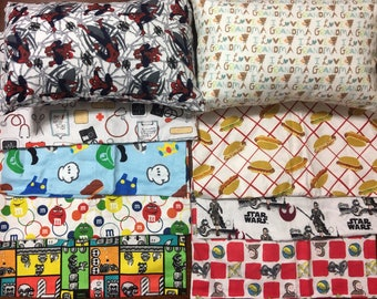 """Travel pillow several styles available  12"""" x 16"""" comes with pillow"""