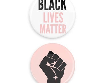 BLM pins Black Lives Matter Buttons Black History Month Equality
