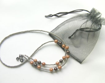 Handcrafted Amber Grey Spectacle Glasses Chain