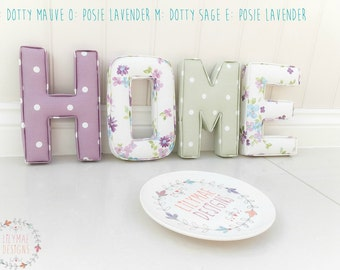 Home Fabric Letters | Handmade | Lilymae Designs | Home | Hall Way | Wall Decor | Nursery | Bedroom | Childrens | Gift | Made in England